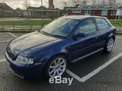 2000 Audi S3 1.8T Quattro, F/S/H, 101K, 264BHP, Blue Alcantara, 3 Owners
