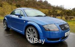 2000/w Audi Tt Quattro 225 Bhp Coupe Blue 18 Upgrade Alloys & Full Leather 4wd