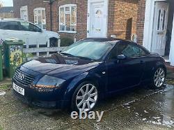 2002 Mk1 Audi Tt 1.8 Turbo 185bhp Quattro Blue Sorn Only 85995 Miles