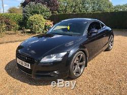 2008 Audi TT 3.2 V6 Quattro Black MK2 Rotor Wheels 250bhp Manual Low Millage