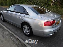 2010 60 Audi A 8 3.0 Tdi Quattro Se, Chipped 320 Bhp, Nav, Hfs, Silver, Black Lthr