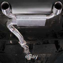 3 Stainless Cat Back Exhaust System For Audi Tt 8n Mk1 1.8t 225 Bhp Quattro 98+