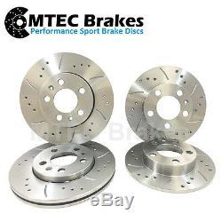 AUDI TT 150bhp 180bhp NON-QUATTRO Drilled Grooved Brake Discs Front Rear