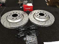 Audi A3 S3 Tfsi Quattro 265bhp Brake Disc Drilled Grooved Brake Pad Rear