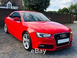 Audi A5 3.0 TDI V6 Quattro Sline 245BHP FSH Superb Condition Misano Red 63 Plate