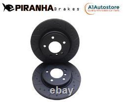 Audi S3 2.0 Quattro 295/305bhp 14- Rear Brake Discs Coated Black Piranha