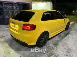 Audi S3 8p Imola Yellow 360bhp Quattro Modified 91k Mot Aug 20' Heated Seats Nav