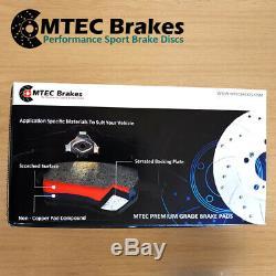Audi TT 2.0TFSi TTS (270bhp) 3.2 Quattro 06-15 Front Brake Discs MTEC Brake Pads