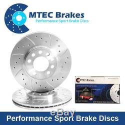 Audi TT 2.0TTS Quattro (270bhp) 08-15 Rear Brake Discs & MTEC Premium Brake Pads