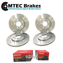 Audi TT 2.5 RS Quattro 335/355bhp 09-15 Front Rear Discs & Pads Drilled Grooved