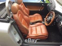Audi TT 225 BHP Quattro 4WD Convertible 2000 1.8 Turbo rare baseball leather int