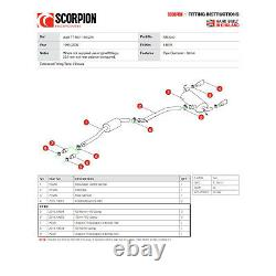 Audi TT MK1 Quattro 180 225 BHP Scorpion Exhaust Cat-Back System Twin Daytona