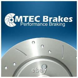 Audi TT MK2 2.0 TTS Quattro 270bhp 08-15 Front Brake Discs Drilled Grooved
