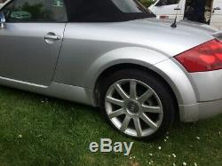 Audi TT Mk1 Convertible Roadster 1.8T Quattro 180 bhp 2001 Silver