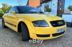 Audi TT Quattro 180bhp Coupe in Stunning Yellow with Metallic Black roof