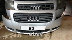 Audi Tt Mk1 8n Front Bumper With Grills (silver) 180bhp Tt Mk1 8n Quattro 98-06