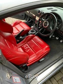 Audi tt quattro coupe 1.8t 225 bhp silver red leather interior