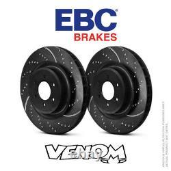 EBC GD Rear Brake Discs 300mm for Audi A7 Quattro 4G8 3.0 TD 245bhp 2010- GD1535
