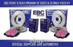 Ebc Front + Rear Discs And Pads For Audi A3 Quattro (8p) 2.0 Td 140 Bhp 2004-07