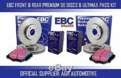 Ebc Front + Rear Discs And Pads For Audi Tts Quattro 2.0 Turbo 272 Bhp 2008-14