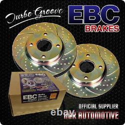 Ebc Turbo Groove Front Discs Gd1153 For Audi Tt Quattro 3.2 250 Bhp 2003-06