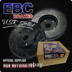 Ebc Usr Slotted Front Discs Usr1606 For Audi Tt Quattro 3.2 250 Bhp 2006-10