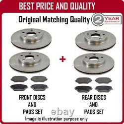 Front And Rear Brake Discs And Pads For Audi A6 2.7t Quattro (250bhp) 8/2001-9/2
