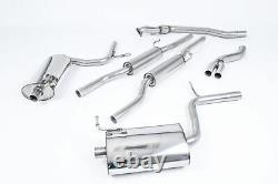 Milltek Audi A4 1.8T B6 Quattro 190BHP 6 Speed Cat Back Exhaust 03-05 SSXAU034