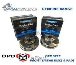 Oem Spec Front And Rear Discs Pads For Audi Tt Quattro 1.8 Turbo 225 Bhp 1998-06