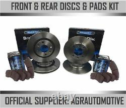 Oem Spec Front + Rear Discs And Pads For Audi A5 Quattro 3.2 261 Bhp 2007-11