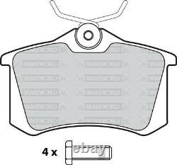 Oem Spec Front + Rear Discs Pads For Audi Tt Quattro 1.8 Turbo 225 Bhp 1998-06