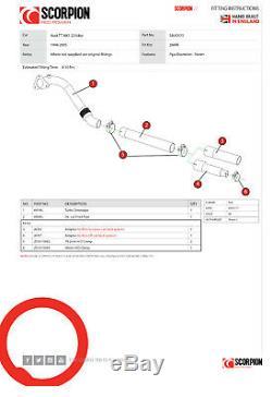 Scorpion Audi TT De-cat & Downpipe 1.8T MK1 Quattro 225bhp Removes Cat SAUC075