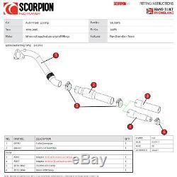 Scorpion Exhaust Turbo-Downpipe + Sports Cat Audi TT MK1 225BHP Quattro 1998-05